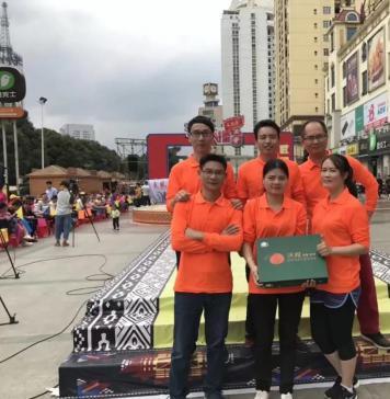 鸣鸣果园代表武鸣沃柑队参加广西科教频道《开心擂台》节目