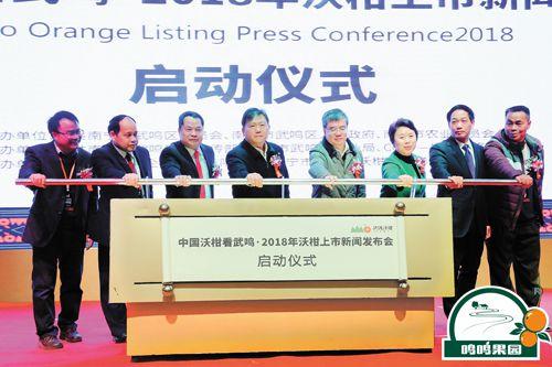 图为中国沃柑看武鸣·2018年沃柑上市新闻发布会启动仪式现场